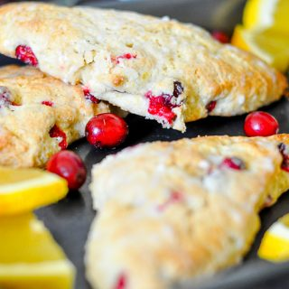Fresh Cranberry Scones with sweet and tangy orange is an easy Thanksgiving recipe! Perfect for holiday brunch all year long!