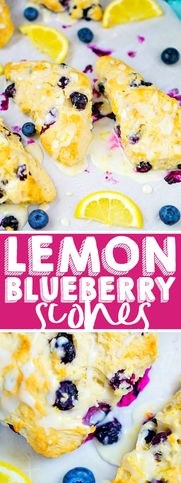 Glazed Lemon Blueberry Scones Recipe: Bake your way to a great holiday brunch with the BEST SCONE RECIPE! This delicious citrus scone makes the perfect breakfast pastry all year long! | The Love Nerds #christmasrecipe #easterrecipe #mothersdayrecipe