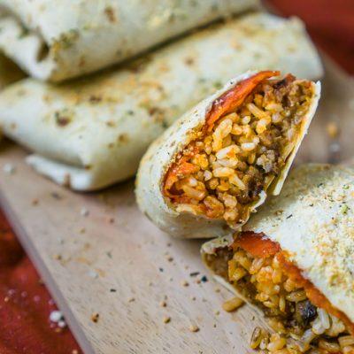 Easy Baked Pizza Burritos