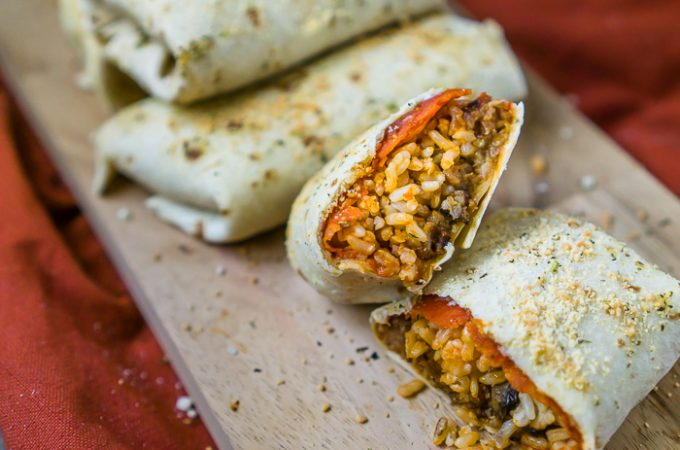 Tasty Pizza Burritos for Football Sunday! Perfect Game Day Appetizer!