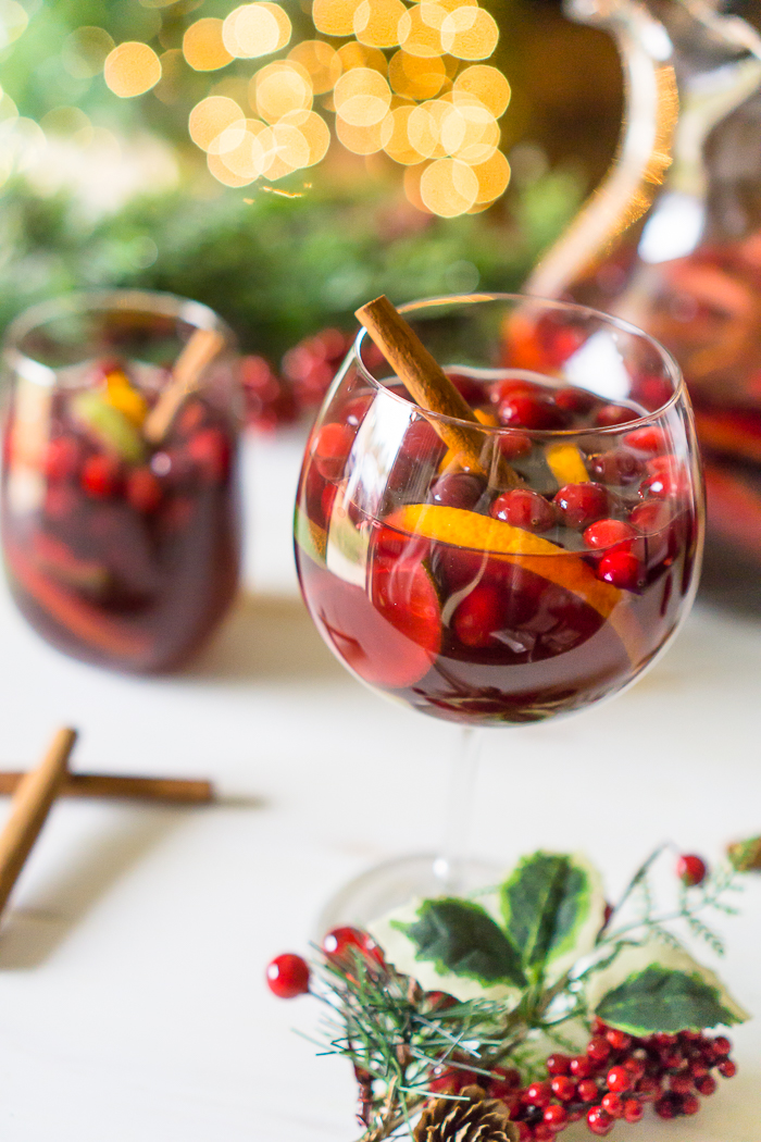 Red Sangria Recipe for the holiday season - Thanksgiving, Christmas, or New Years!