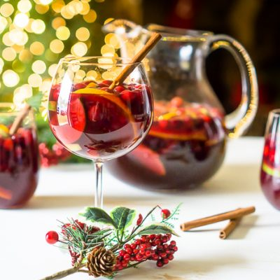 Citrus Cranberry Holiday Sangria