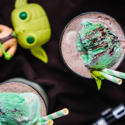 Frozen Mudslide with Mint Chocolate Chip Ice Cream