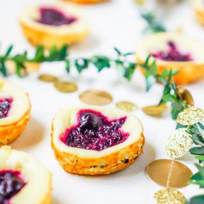 Mini Berry Oreo Cheesecakes