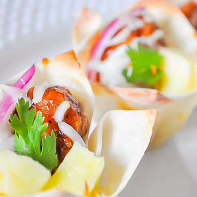 Hawaiian BBQ Chicken Cups