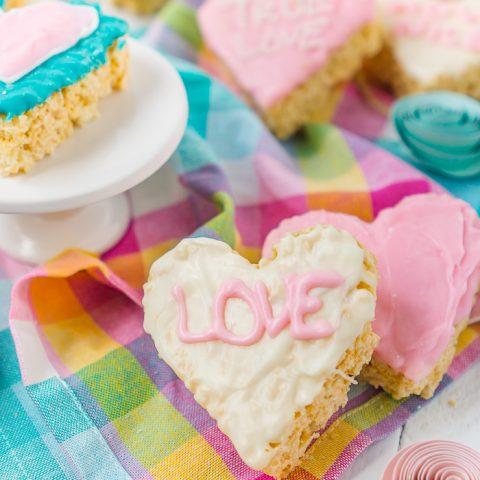 Conversation Heart Rice Krispie Treats