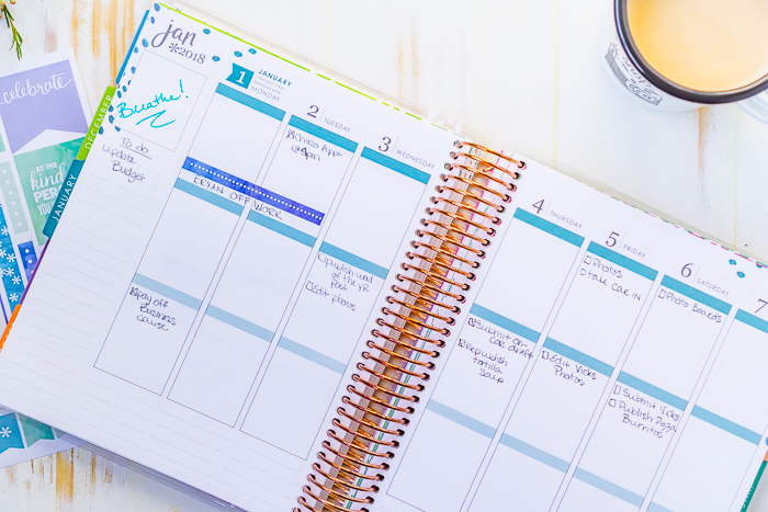 Looking for Erin Condren Planner Ideas? I'm sharing how I use the weekly calendar spreads in my EC Life Planner. Ideas for dividing the three sections in the vertical layout, the list section on the side, and the added lines under each day.