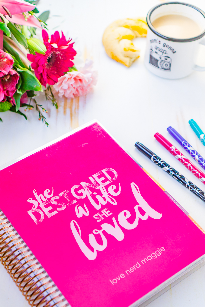 I'm sharing my Erin Condren Life Planner Ideas, including how I use the monthly calendars, monthly note pages, weekly calendars, goal setting pages, and notes pages.
