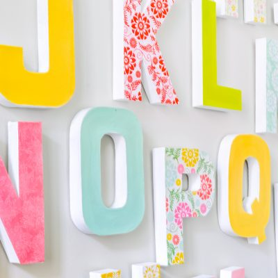 DIY Wall Letters