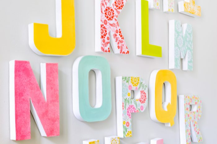 Sometimes you just want a letter wall decor as a statement piece without the added price for making them pretty or the struggle of finding wants to match your home decor, which is why I'm sharing these DIY wall letters! They make the perfect addition to your nursery, home office, classroom or playroom!