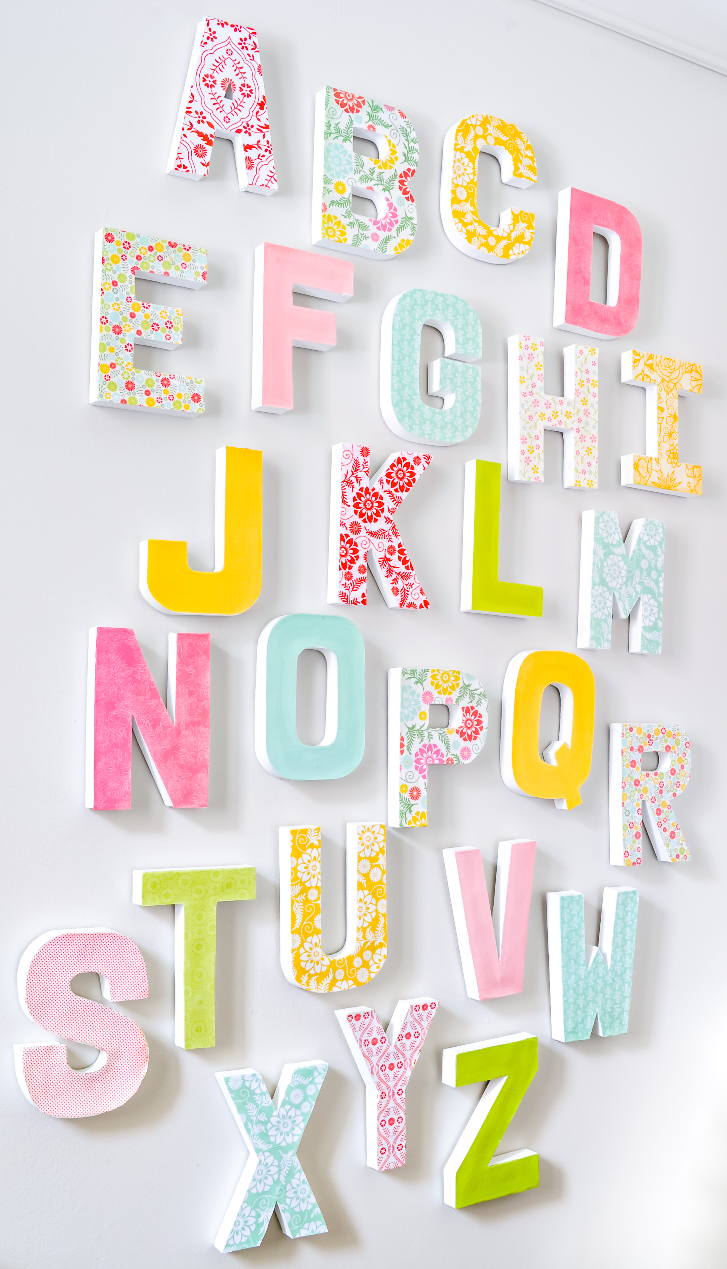 How To Make Large Letters For Wall Decor   These Diy Letters Require S  Simple Crafting