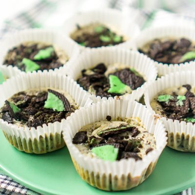 Mini Mint Oreo Cheesecakes