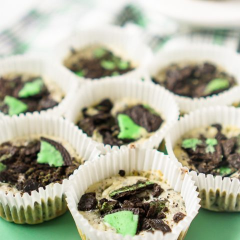 Mint Oreo Cheesecakes