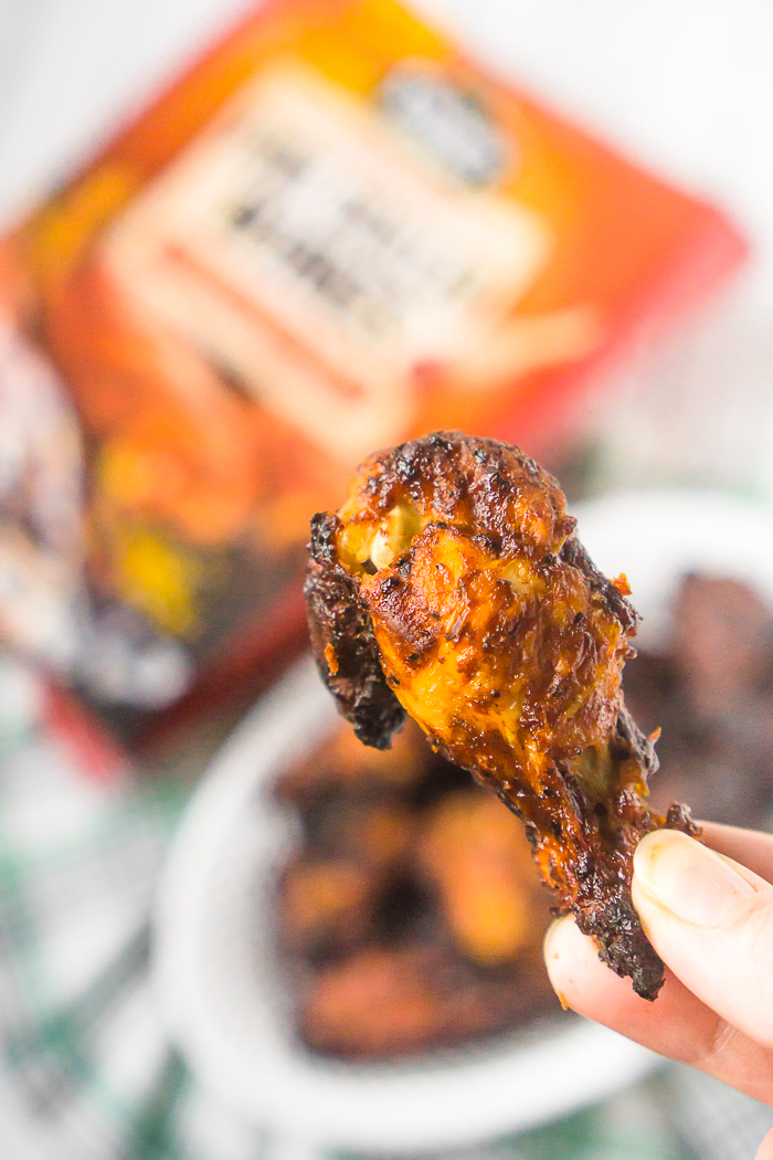 Cooked Perfect Grilled Chicken Bourbon BBQ - Chicken Wings for St. Patrick's Day Menu