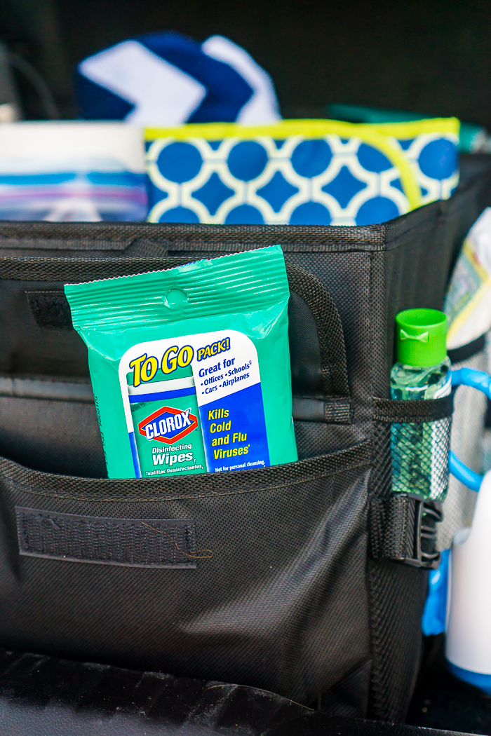 I love having these 9 count Clorox To Go Packs on hand. I have them in the trunk, in the glove department, in the diaper bag, in my work bag, and even in my purse which comes in handy for shopping carts!