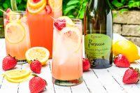 Sparkling Strawberry Lemonade Spritzer