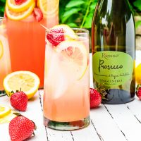 Sparkling Strawberry Lemonade Spritzer