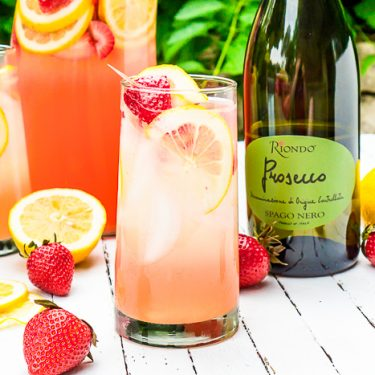 Strawberry Lemonade Spritzer - Perfect Summer Cocktail