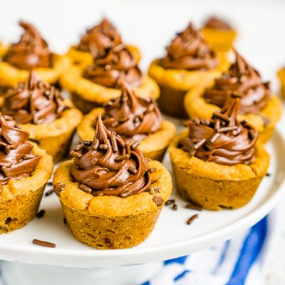 Frosted Chocolate Chip Cookie Cups
