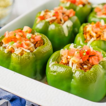 Chipotle Inspired Burrito Bowl Stuffed Peppers