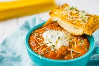 One Pot Three Cheese Lasagna Soup