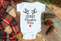 Tis the Season for cute holiday shirts! You can't go wrong decking out your cutest reindeer or cutest snowman in a DIY Christmas Shirt and you definitely can't go wrong celebrating your cutest elf! Grab your Kids Holiday Shirt SVG Files and more now!  | THE LOVE NERDS #svgfiles #diychristmasshirts #diychristmasprints #christmassvg