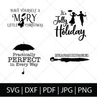Who is excited for Mary Poppins Returns?! I've always been a huge Disney fan - including Mary Poppins, so I knew I wanted to make some special Mary Poppins SVG files for you all and for me, too. Perfect for DIY gifts for fellow Disney fans or movie theater shirts! | THE LOVE NERDS #diyshirts #marypoppins #marypoppinsshirts #disneyside #svgfiles #silhouetteproject #cricutproject