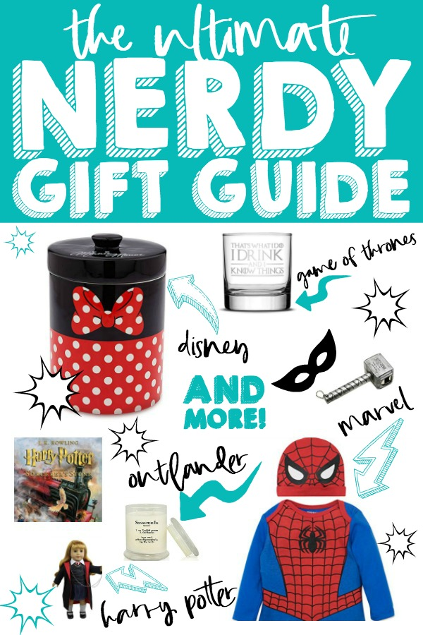 Whether you are shopping for a nerd who loves Star Wars, Marvel, Harry Potter, Game of Thrones or even Outlander, we have you covered with this Ultimate Nerdy Gift Guide! Gift Ideas for Harry Potter, Marvel, Star Wars, DC Comics, Outlander, Game of Thrones and more! | THE LOVE NERDS #christmasgiftguides #giftguide