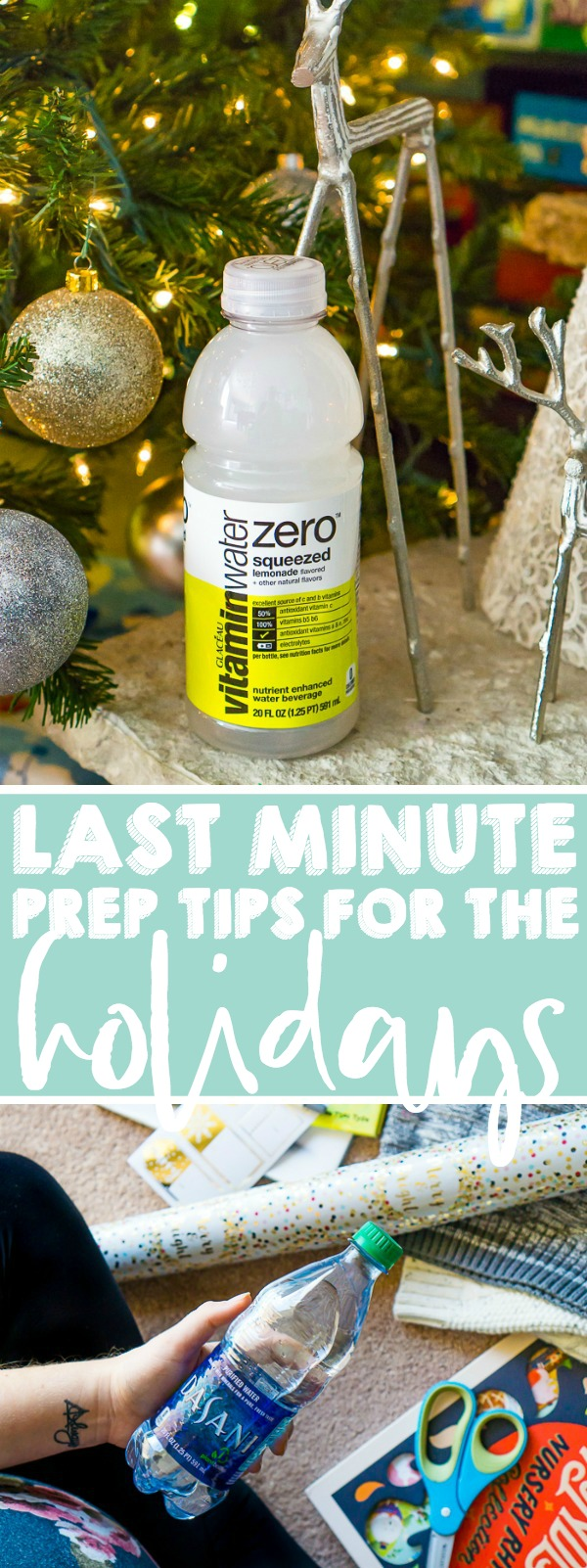 Today I'm sharing last minute tips for surviving the holiday! With only a week before Christmas, I'm sure you have a lot of holiday prep still ahead of you, so make sure to prioritize your health and sanity! You deserve a happy holiday! | THE LOVE NERDS #christmasprep #holidaytips #ad #HydrateYourDay