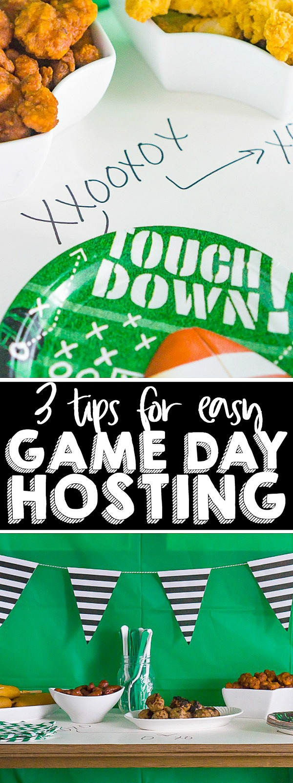 Easy Game Day Hosting Tips - Don't stress about hosting for the Big Game! Follow these 3 easy tips for hosting so you can spend less time preparing and more time enjoying! | THE LOVE NERDS