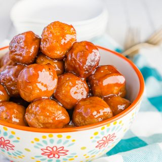 Peach BBQ Meatballs