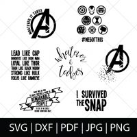 Avengers SVG Bundle - We are our Marvel heroes, so we're celebrating the newest movie with these Avengers cut files! Perfect for making Avengers shirts, mugs, gifts and more!