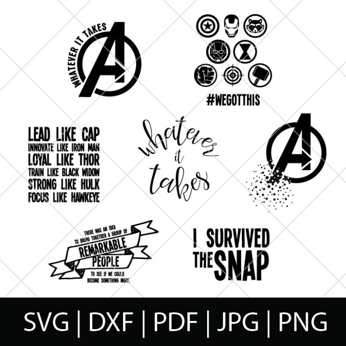 Avengers Endgame Svg Bundle The Love Nerds