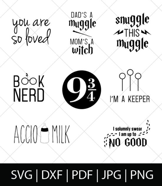 Harry Potter SVG Bundle 1 - Celebrate your love of Harry Potter, Hogwarts, and the entire wizarding world with these Harry Potter SVG Cut Files! Perfect for making DIY Harry Potter Shirts, Mugs, and more!