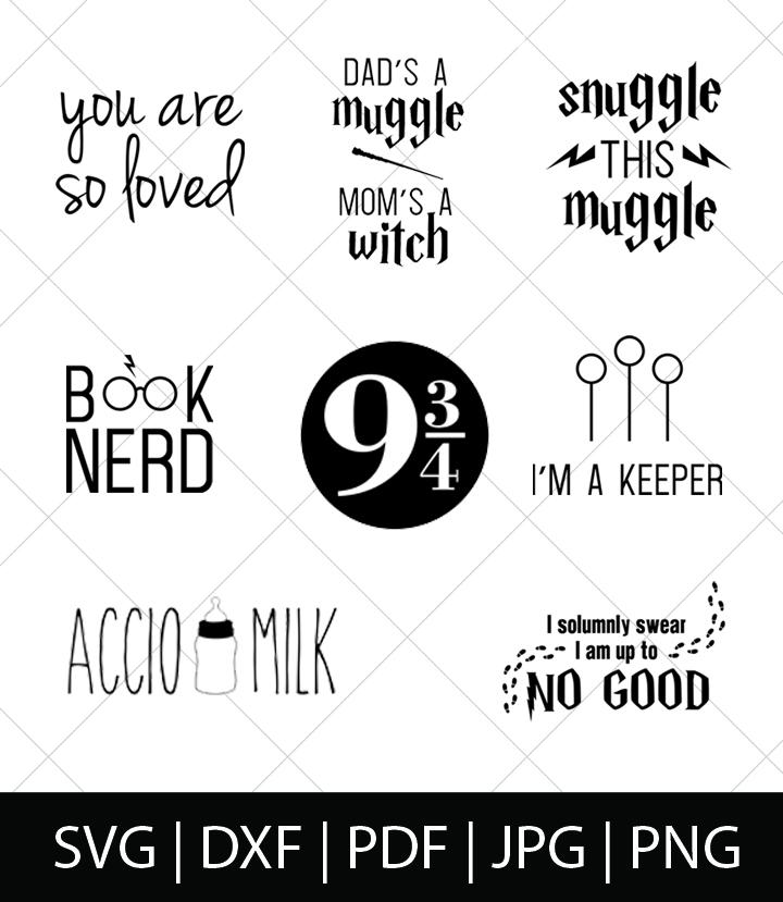Harry Potter Svg Bundle 1 The Love Nerds