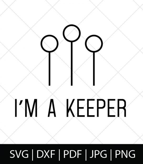 Quidditch I'm a Keeper - Harry Potter SVG Bundle 1 - Celebrate your love of Harry Potter, Hogwarts, and the entire wizarding world with these Harry Potter SVG Cut Files! Perfect for making DIY Harry Potter Shirts, Mugs, and more!