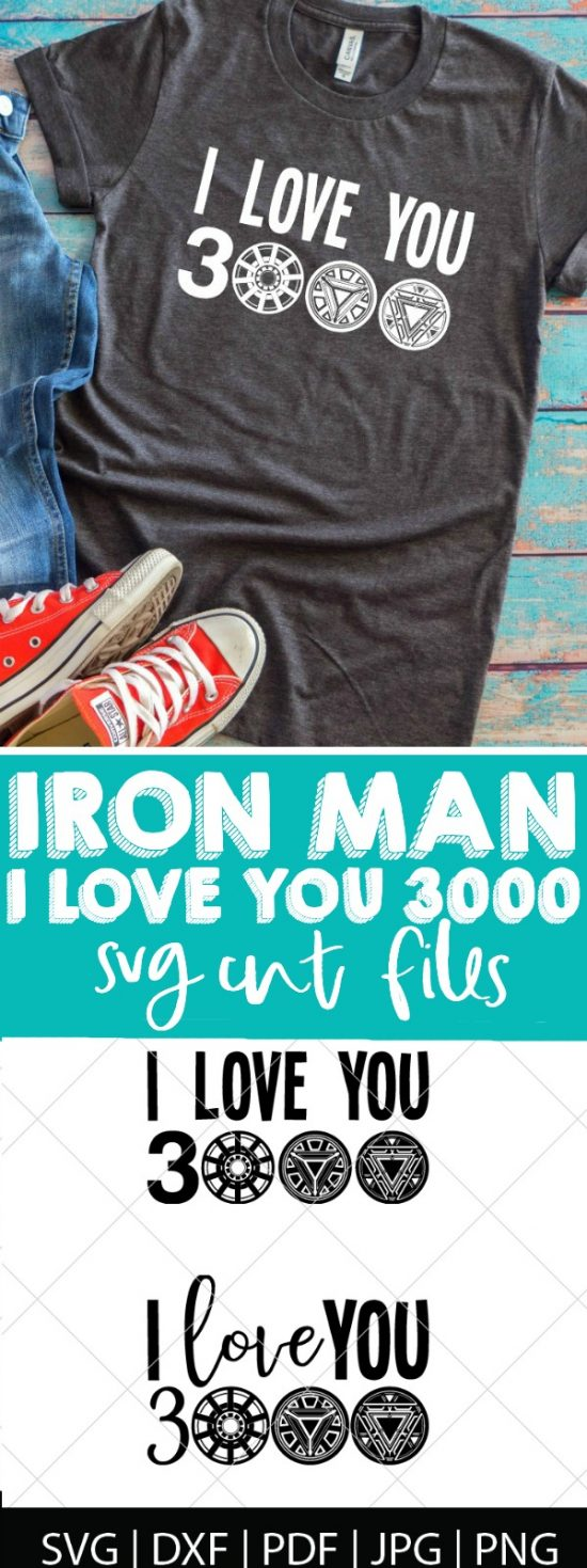 Avengers Endgame I Love You 3000 - Iron Man - Black Widow - Captain America - Avengers Endgame SVG Bundle - Who's ready to see how our favorite Marvel heroes are going to defeat Thanos?! We are, so we're celebrating with these Avengers cut files! Perfect for making Avengers shirts, mugs, gifts and more! | THE LOVE NERDS