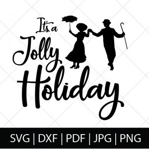 Whether you love the classic or the new Mary Poppins Returns, these Mary Poppins SVG Files are practically perfect for all Disney fans! This Mary Poppins Jolly Holiday SVG file is great for making DIY gifts for fellow Disney fans, movie theater shirts, or, of course, Disney World shirts! ! | THE LOVE NERDS #diyshirts #marypoppins #marypoppinsshirts #disneyside #svgfiles #silhouetteproject #cricutproject