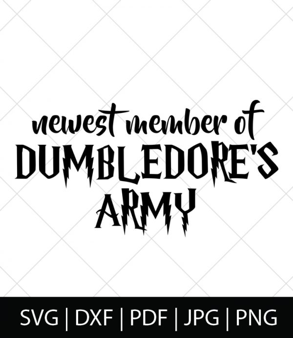 Dumbledore's Army - Harry Potter SVG Bundle 2 - Celebrate your love of Harry Potter, Hermione Granger, the Weasleys, Hogwarts, and the entire wizarding world with these Harry Potter SVG Cut Files! Perfect for making DIY Harry Potter Shirts, Mugs, and more!