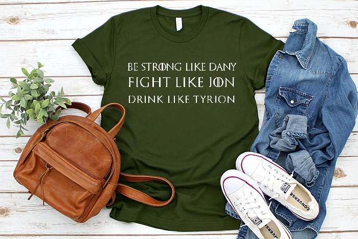 Be Strong Like Dany, but Drink like Tyrion! - Game of Thrones SVG Cut File - Celebrate your favorite book series and television show with your own DIY GOT shirt, mug or more! | THE LOVE NERDS