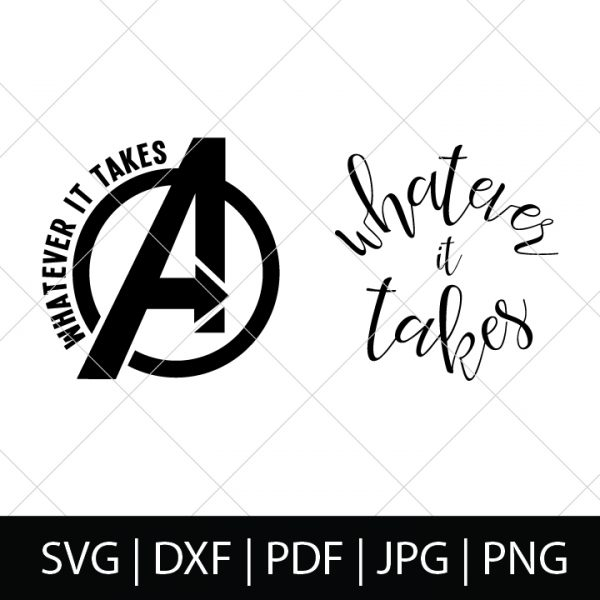 Avengers Whatever It Takes Logo - Avengers Logo Snap - Avengers Endgame SVG Bundle - Who's ready to see how our favorite Marvel heroes are going to defeat Thanos?! We are, so we're celebrating with these Avengers cut files! Perfect for making Avengers shirts, mugs, gifts and more! | THE LOVE NERDS