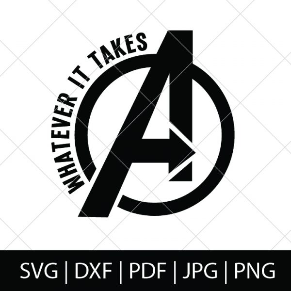 Avengers Whatever It Takes Logo - Avengers Logo Snap - Avengers Endgame SVG Bundle - Who's ready to see how our favorite Marvel heroes are going to defeat Thanos?! We are, so we're celebrating with these Avengers cut files! Perfect for making Avengers shirts, mugs, gifts and more!