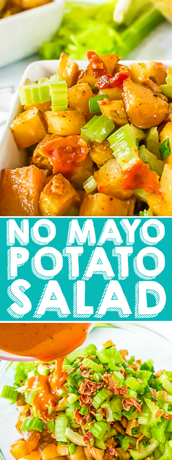No Mayo Potato Salad with Bacon and Roasted Potatoes - The BEST potato salad for summer BBQs and parties! | The Love Nerds