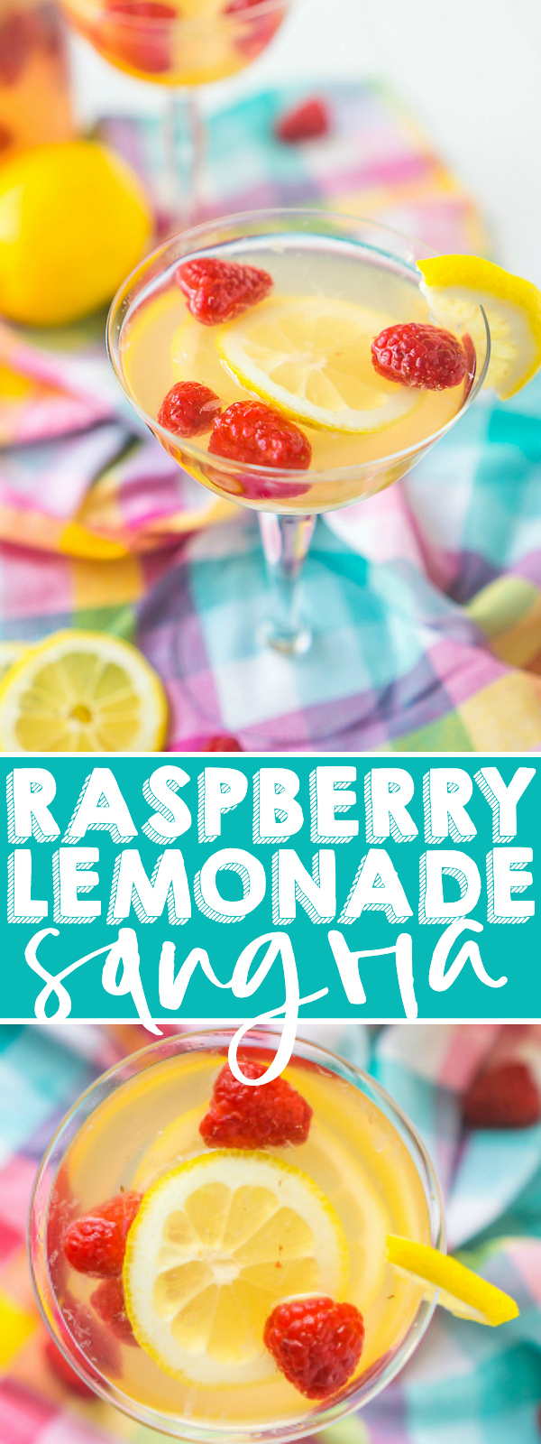 Raspberry Lemonade Sangria is a sweet and tart summer cocktail recipe that you are going to love! This white wine sangria is super easy to make for any summer hosting and super easy to customize, too, if you don't like raspberry! | THE LOVE NERDS #winecocktail #summersangria #lemonadecocktail