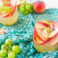 Refreshing White Peach Sangria