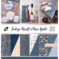 Indigo Kraft and Rose Gold Premium Printed Stack
