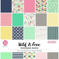 Wild and Free Colorbok Designer Paper Pad