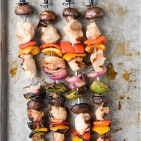 Easy Grilled (or broiled) Chicken Shish Kabob recipe