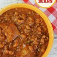 Easy Crockpot Baked Beans With Bacon