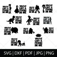 You've Got a Friend in Me SVG Bundle 2 - Toy Story Cut Files for DIY Disney Group Shirts